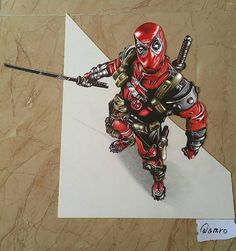 #Deadpool in #3d by @amroaldory (IG) #ArtGully