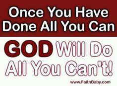 Let go, and let God