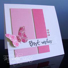simpele mooie roze kaart