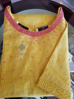 Best 12 Whatsapp on 9496803123 for customising handwork n cutwork dresses and sarees Salwar Neck Designs, Churidar Designs, Kurta Designs Women, Embroidery On Kurtis, Embroidery Neck Designs, Embroidery Dress, Hand Embroidery, Salwar Pattern, Kurta Patterns