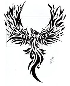 Phoenix tribal tattoo | Like Tattoo