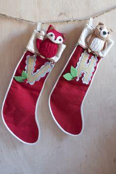 DIY + Vintage + Christmas + Stocking