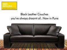 Buy exclusive ‪#‎BlackLeatherCouches‬ In ‪#‎Pune‬ @ Mio Divano. Call 7028992750 for enquiries