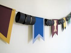 Harry Potter Papier Bunting Flags von KiwiTiniCreations auf Etsy