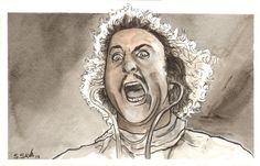 My buddy Mike bought the Young Frankenstein monster from my Etsy store…so I did this little companion painting as a surprise for him.Love Gene Wilder!Watercolors and ink on 5.5x8.5 inch watercolor paperWhile this painting is a gift for my buddy… you can see other pieces for sale here…http://www.etsy.com/shop/ScottChristianSava