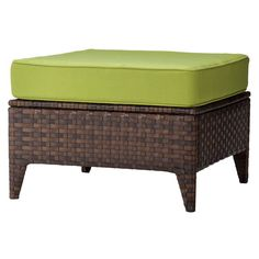 Belmont Brown Wicker Patio Sectional Ottoman. Image 1 of 2.