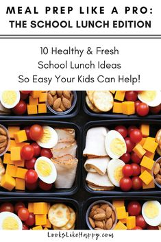 Meal Prep school lunches that are healthy, easy and so delicious your kids will love them! Make back to school easier with these awesome school lunch ideas. School Lunch Recipes, Healthy School Snacks, Healthy Eating, Soup Recipes, Vegetarian Recipes, Healthy Recipes, Protein Recipes, Recipes Dinner, Potato Recipes