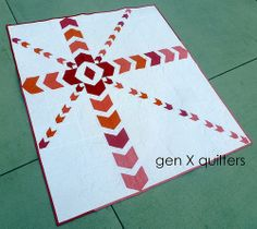 ripple quilt full shot by AM of Gen X Quilters, via Flickr