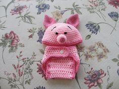 Piglet set Ravelry: skniffen's Newborn Diaper Cover (free pattern for diaper cover only)