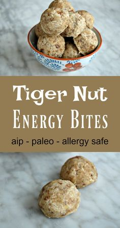 """These little balls provide the trifecta one wants in a homemade AIP-friendly """"energy bite"""" or protein bar: nutrient dense, easy to make, and delicious taste! These are high in protein and healthy fats, so they make excellent between-meal snacks, and are naturally sweet without added sugars, so they are a great as a meal-ending dessert …"""
