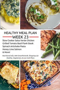 Healthy Meal Plans Week 23 - Slender Kitchen