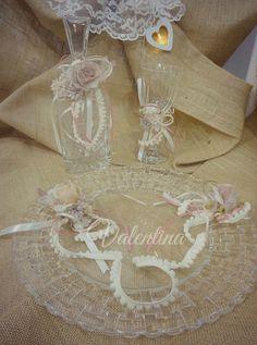 ΣΕΤ Γυάλινο Δίσκος - Μποτίλια - Ποτήρι! Our Wedding, Burlap, Reusable Tote Bags, Hessian Fabric, Canvas