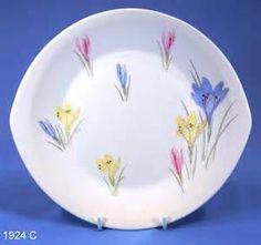 Figgjo Flint Crocus Pattern Norwegian Vintage Oval Cake Plate ...