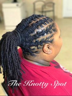 Loc Style Styled By: Maquita James  Call (803)-237-1894 or Book a consultation online at: www.styleseat.com/theknottyspot  #dreadstyles #dreadlockstyles #theknottyspot #styles #masterloctician #locs #locstyles #twist #twostrandtwist #longlocs #twostrandtwiststyle #locologybio #longlocstyles #twiststyle #twistedlocs #locnation #locnationthemovement #locmethod #locmaintenance #locupdo #locponytail #locstyle #locextensions #permanentlocextensions