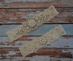 Rhinestone & Pearl Bridal Garter Set, Wedding Garter, Wedding Garter Set, Wedding Garter Belt, Vintage Style Garter Set, R61 by SpecialTouchBridal on Etsy