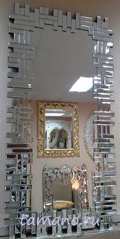 Фото Зеркало венецианское интерьерное в красивой зеркальной раме, арт. 260, размер 116см х 58см