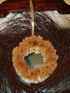 Tierra Coleman: fall craft {coffee filter wreath}