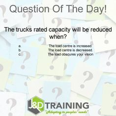Forklift question of the day 7 from http://ift.tt/1HvuLik #forklift #training #safety #jobsearch