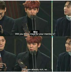 Suho's face was like, wtf bitch