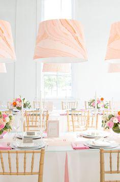 Gorgeous table setting, including Custom Lanterns & Custom paper goods