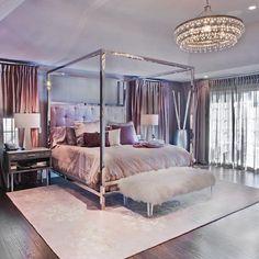 déco glamour pour chambre de style luxe et meubles design