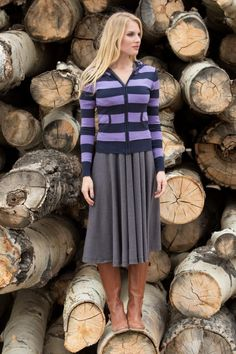 Purple Millie Sweater from the Timbers and Twine Collection by Shabby Apple