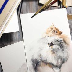 "5,153 Likes, 17 Comments - Watercolor illustrations 🎨 (@watercolor.illustrations) on Instagram: ""🎨 Watercolorist: @canotstoppainting  #waterblog #акварель #aquarelle #painting #drawing #art…"""
