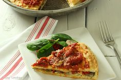 Healthier Chicago Style Pizza {Recipe ReDux} | Craving Something Healthy...