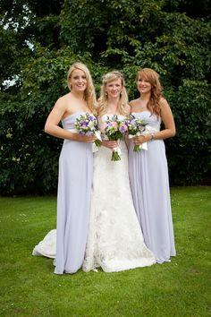 Long Pale Lavender Lilac Color Strapless Dress For Bridesmaids