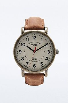 Timex Classic Compass Dial Watch in Tan