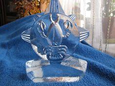 Sweden Vintage art Glass Bergdala Glasbruk figure cancer lobster Zodiac crawfish #bergdala