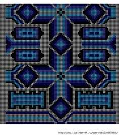 28-1 (564x643, 277Kb) Tapestry Crochet Patterns, Bead Loom Patterns, Beading Patterns, Cross Stitch Patterns, Filet Crochet, Crochet Stitches, Mochila Crochet, Tapestry Bag, Knitting Charts