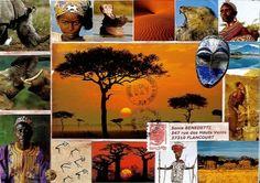 Mail Art - L'Afrique -http://scrapbooking-peinture-art.over-blog.com/