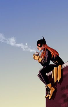 Batgirl Just having coffee