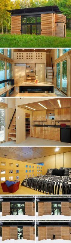 The E.D.G.E:  a 340 sq ft prefab home with a modern, minimalist design.