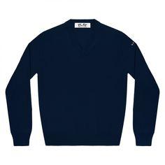 Play Little Black Heart V Neck Sweater (Navy)