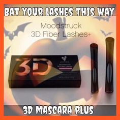 Bat your lashes this way!I love Halloween! #3DFiberLashMascara+ #LoveItGuarantee #Younique #ClickImageToShop #Questions #EmailMe sarahandbrianyounique@gmail.com or comment below