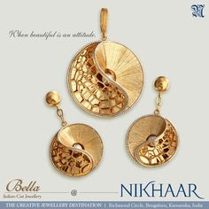 Gold Earrings Designs, Gold Jewellery Design, Necklace Designs, Gold Jewelry, Jewelery, Jewellery Sketches, Jewelry Patterns, Silver Necklaces, Pendant Jewelry