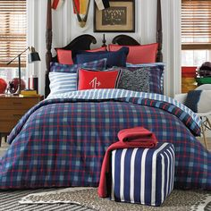 Shop for Tommy Hilfiger Boston Plaid Twin/ Twin XL Comforter Set. Get free delivery On EVERYTHING* Overstock - Your Online Fashion Bedding Store! Get in rewards with Club O! Plaid Comforter, Twin Xl Comforter, Blue Bedding, Bedding Sets, Tommy Hilfiger, Boston, Stylish Beds, Cheap Home Decor, Duvet Cover Sets
