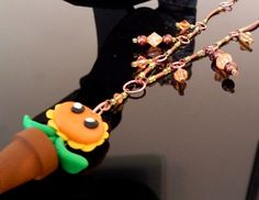 SOLD OUT - Plants Vs Zombies Inspired Potted Sunflower Beaded Chain Necklace