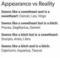 Zodiac Signs - Appearance vs Reality - Wattpad
