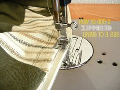 How to Add a Zippered Lining to a Bag - Free Tutorial