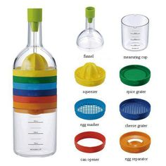1 Gadget, 8 Kitchen Tools = Total Space Saver. OMG I NEED THIS IN MY LIFE!!!!