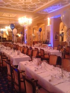 The Jubilee Restaurant is set up for Sidmouth Chamber of Commerce for the 2015 Sid Valley Business Awards