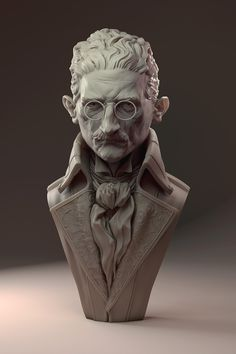 These sculpts were modeled as fan art pieces of the game Dishonored by ZBC member James W Cain