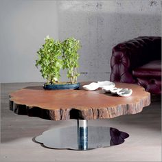 Beautiful redwood coffee table but so expensive I would be yelling at anyone putting hot mugs down on it.