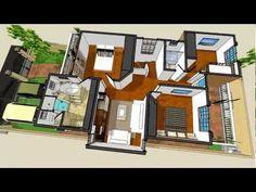 Planos de casas - Modelo San Celso #50- Arquimex Planos de casas - YouTube