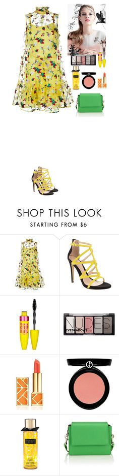 """Summer mood"" by eliza-redkina ❤ liked on Polyvore featuring Erdem, ALDO, Maybelline, H&M, Tory Burch, Armani Beauty, Summer, outfit, like and look"