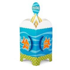 Goldfish Centerpiece  This goldfish decoration is sure to make a splash at your next party! Includes (1) cardboard centerpiece to match your party theme. Some assembly required.   Now $6.49/each