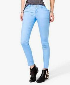 Blue skinny jeans <3